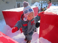 ヒヨコ雪遊び3のサムネール画像