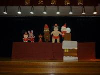 クリスマスのペープサートも見たよ